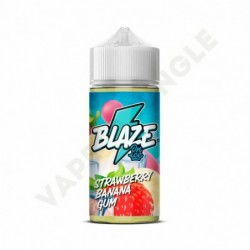 Blaze On Ice 100ml 3mg Strawberry Banana Gum