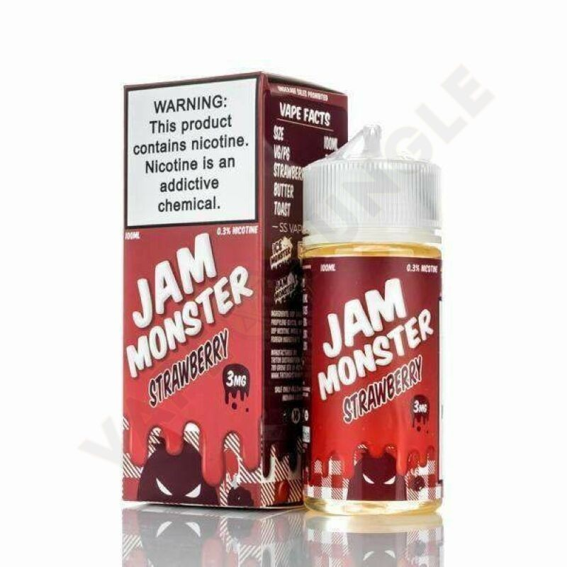 Jam Monster 100ml 3mg Strawberry